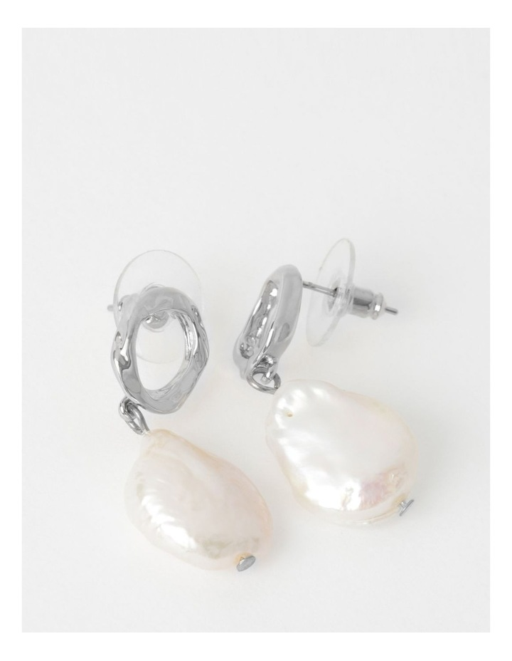 Freshwater Pearl & Gold Drop Earring image 1