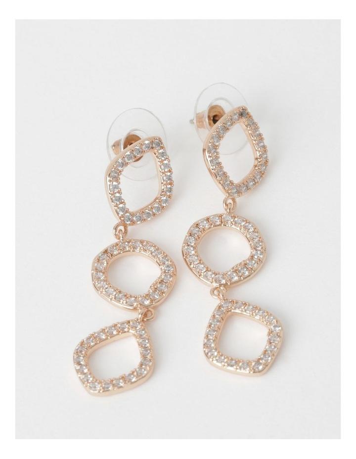 Triple CZ Drop Earring image 1