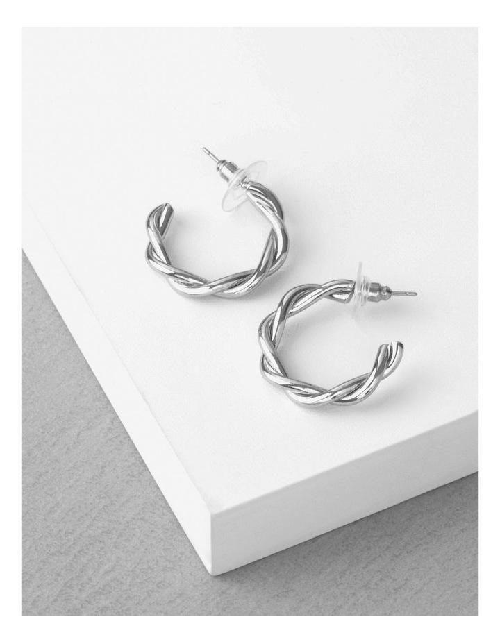 Silver Twist-Hoop Earring image 3