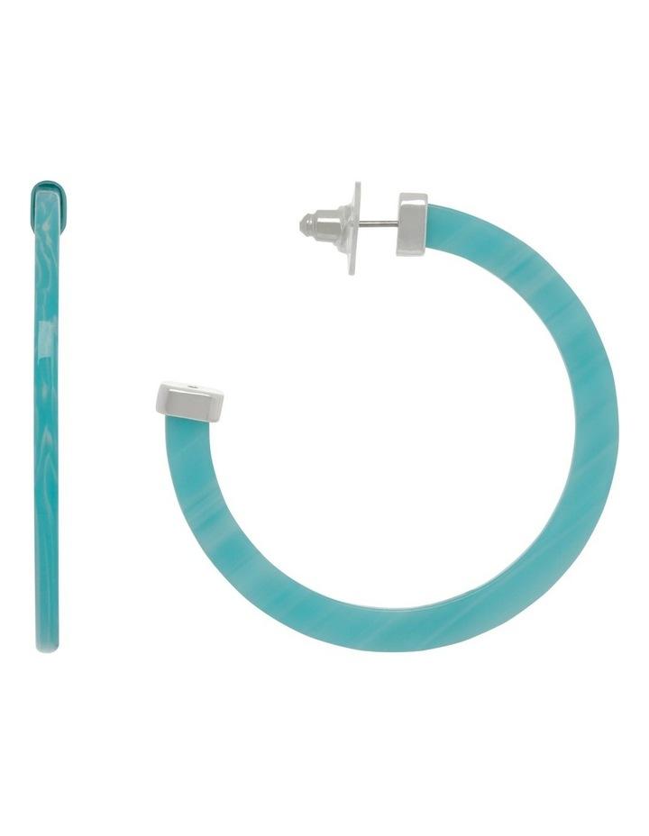 Aqua Acetate Hoop Earrings image 1