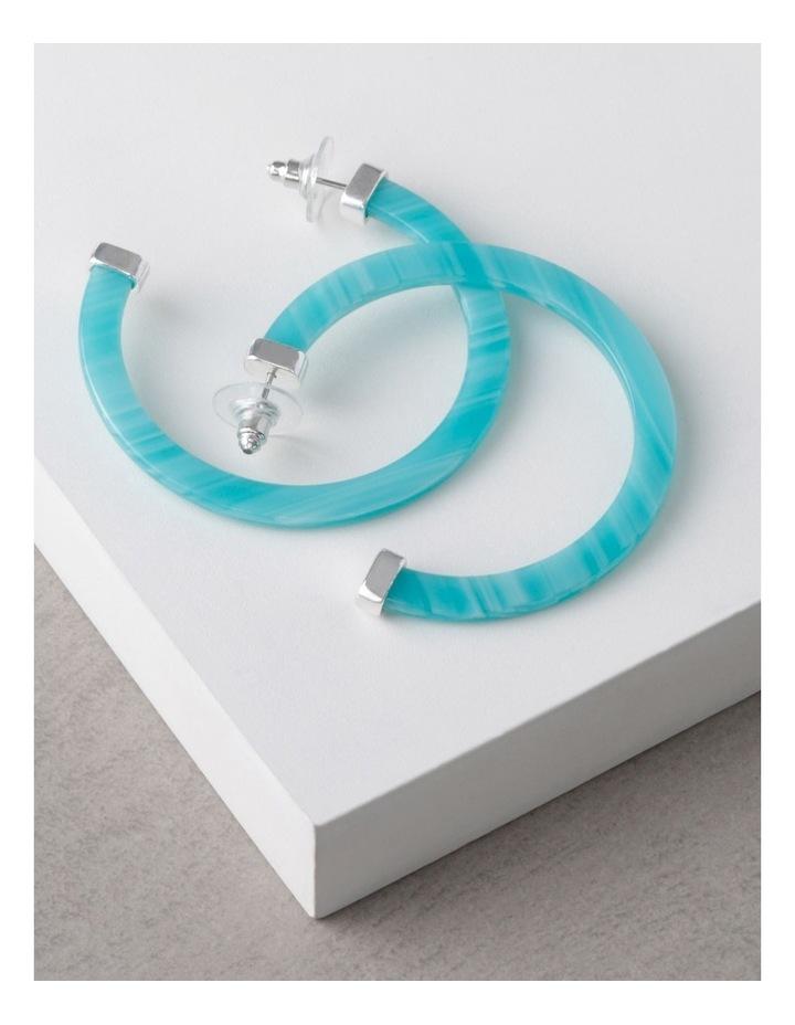 Aqua Acetate Hoop Earrings image 3
