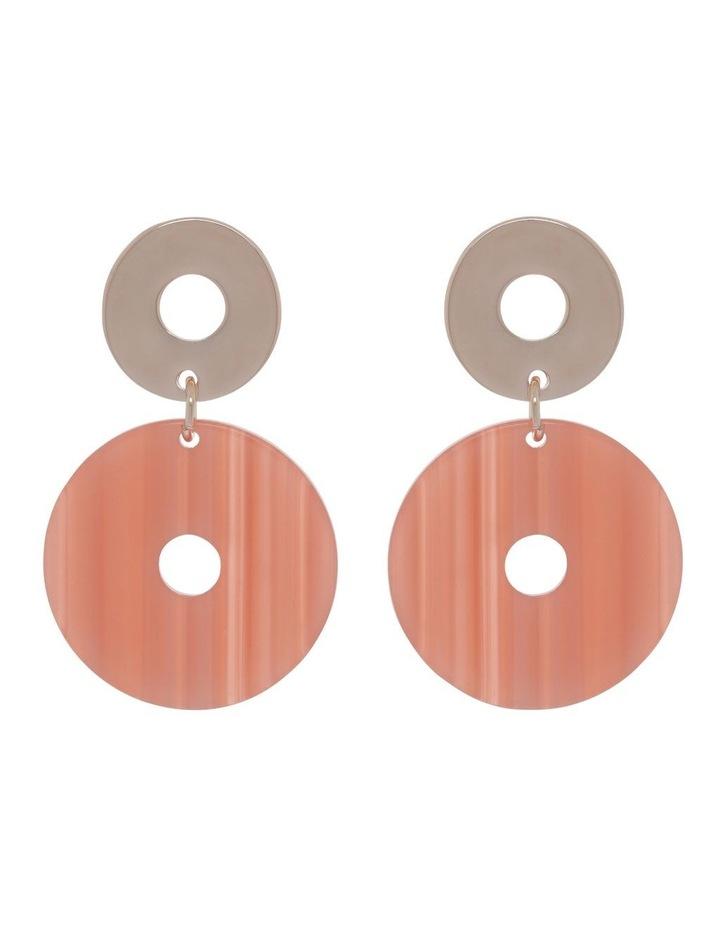 Coral Acetate Drop Earrings image 1