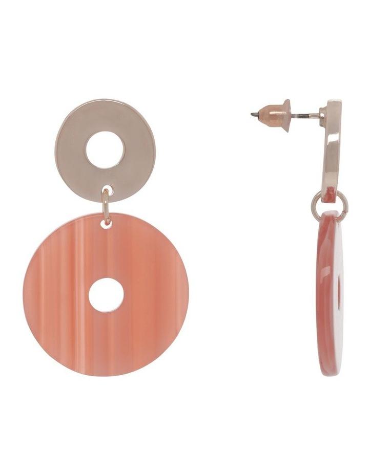 Coral Acetate Drop Earrings image 2