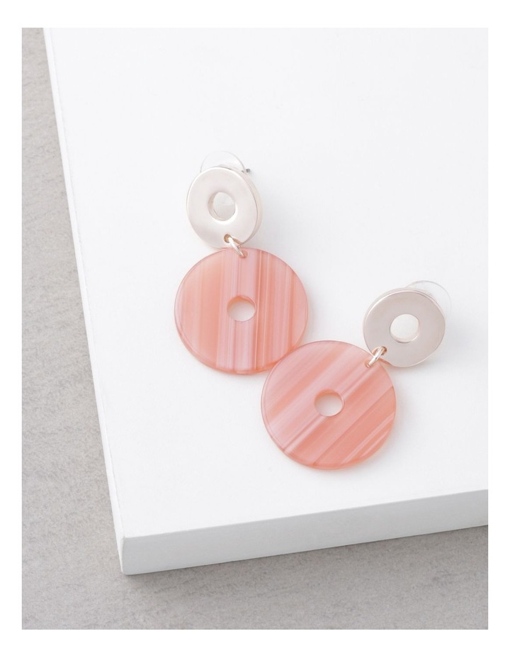 Coral Acetate Drop Earrings image 3