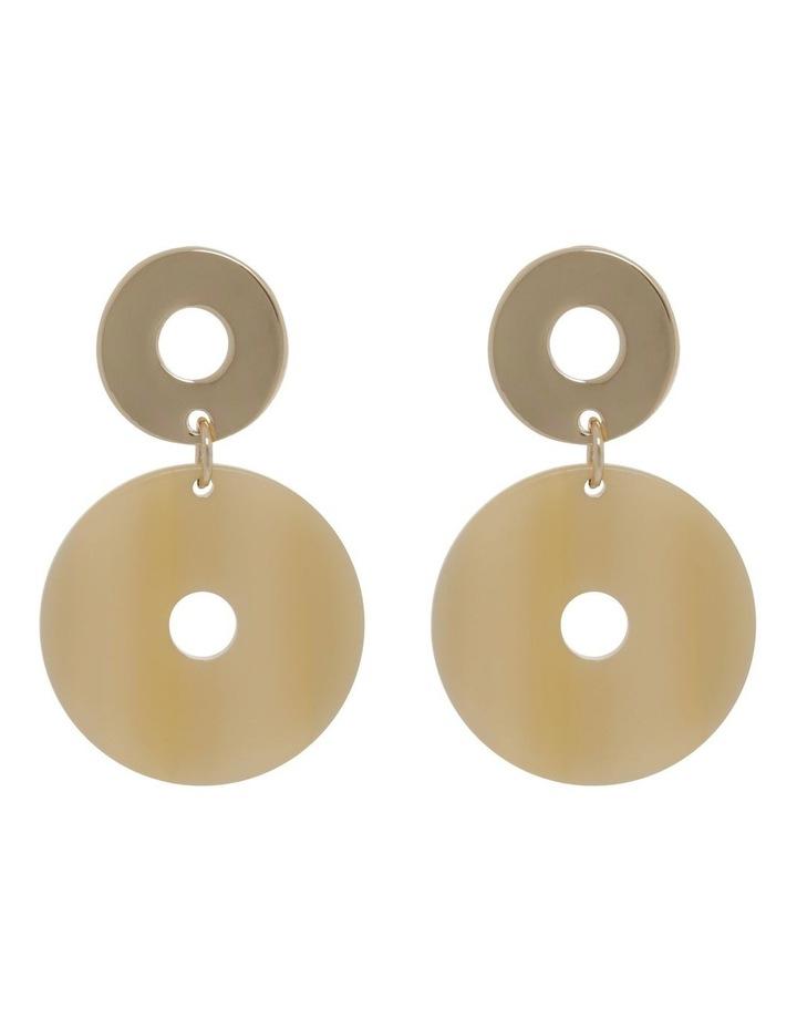 Cream Acetate Drop Earrings image 1