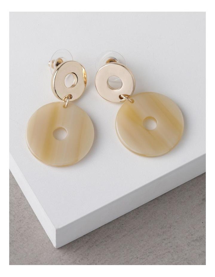 Cream Acetate Drop Earrings image 3