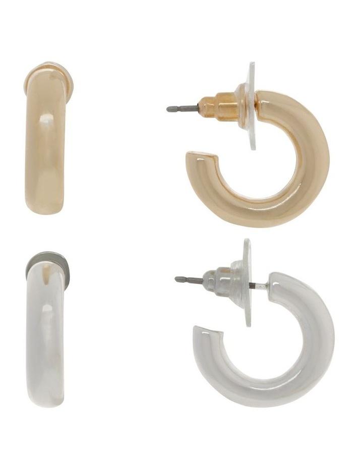 Gold & Silver Mini Hoop Pack image 1