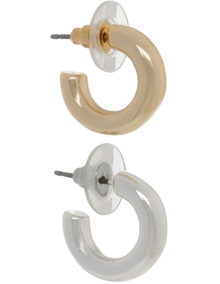 Gold & Silver Mini Hoop Pack image 2