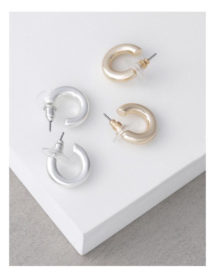 Gold & Silver Mini Hoop Pack image 3