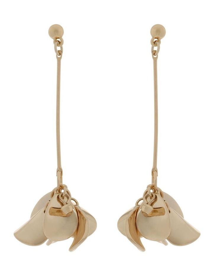 Gold Petal Drop Earrings image 1