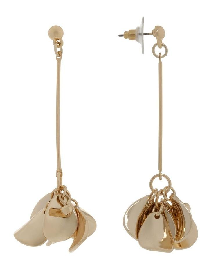 Gold Petal Drop Earrings image 2
