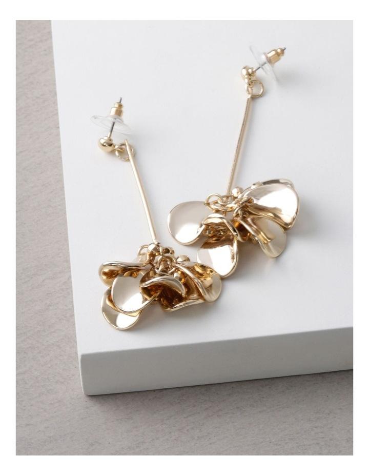 Gold Petal Drop Earrings image 3