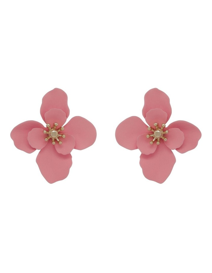 Coated Flower Stud Earrings image 1