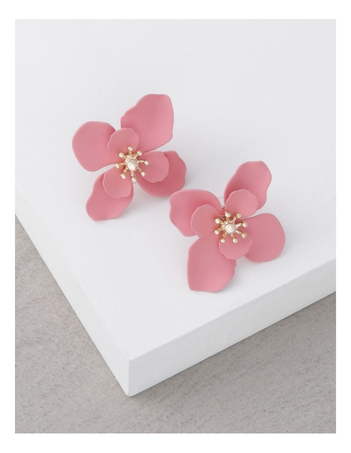 Coated Flower Stud Earrings image 3