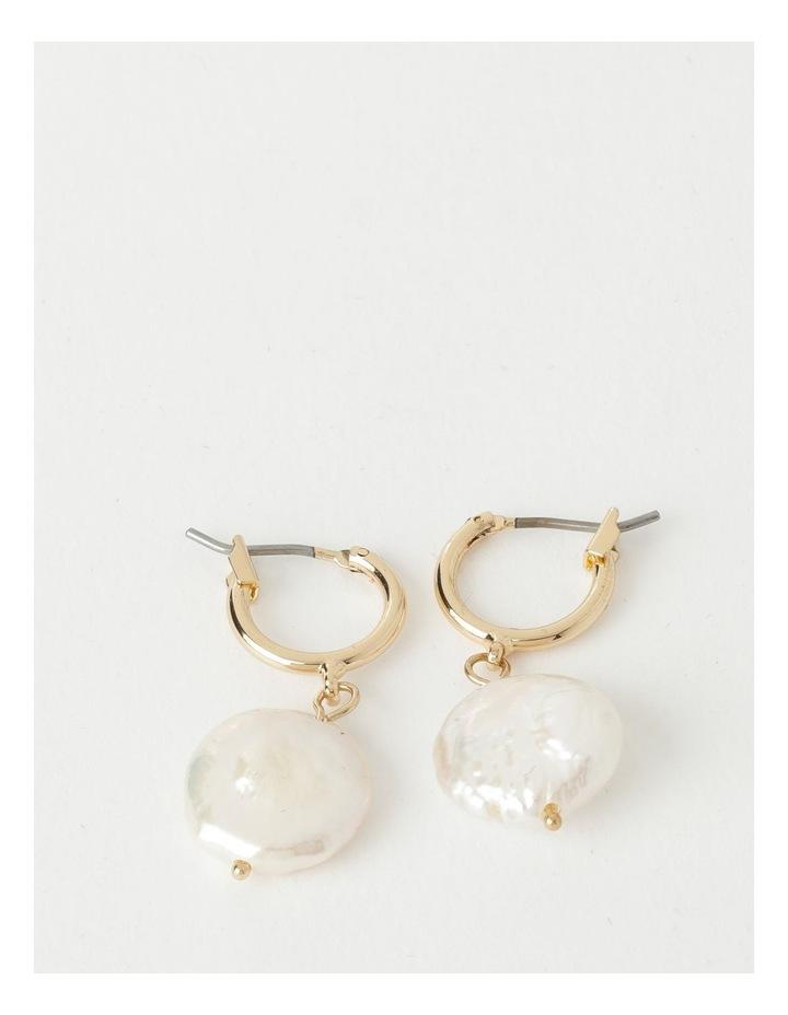 Flat Pearl Drop Earrings image 1