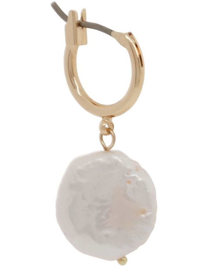 Flat Pearl Drop Earrings image 2