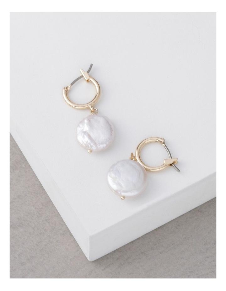Flat Pearl Drop Earrings image 3