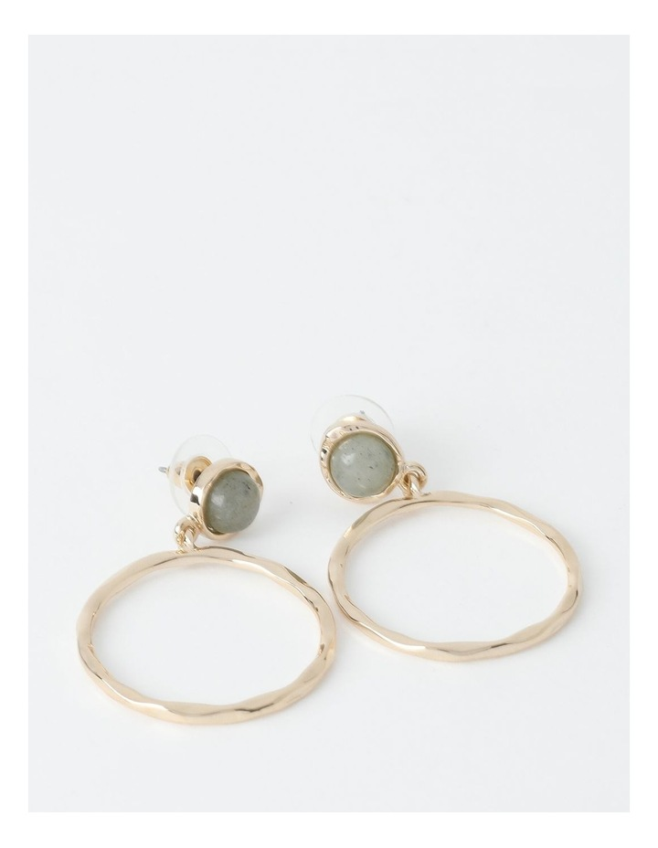 Stone Circle Drop Earring image 1