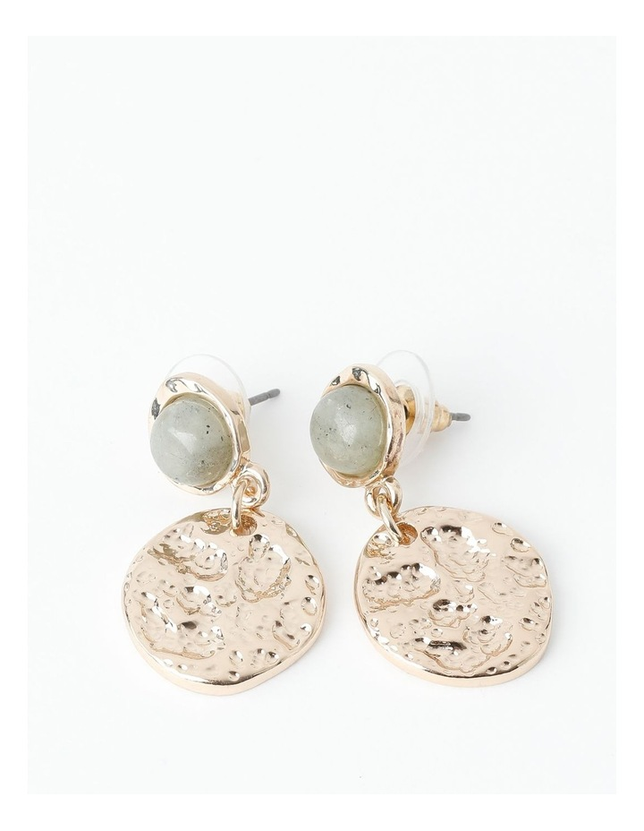 Stone Disc Drop Earring image 1