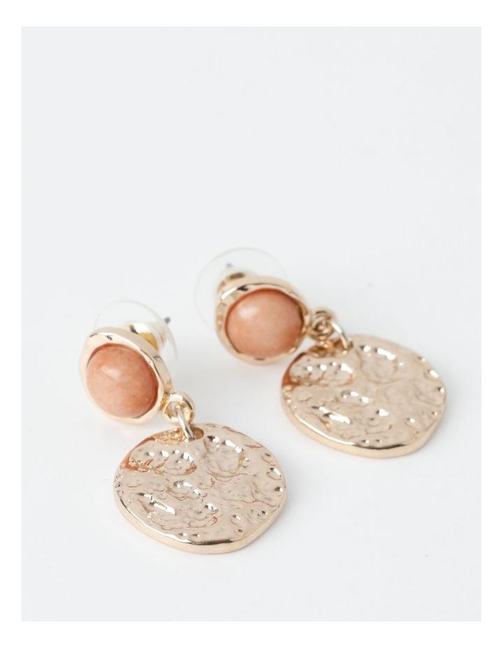 Stone Disc Drop Earring image 1