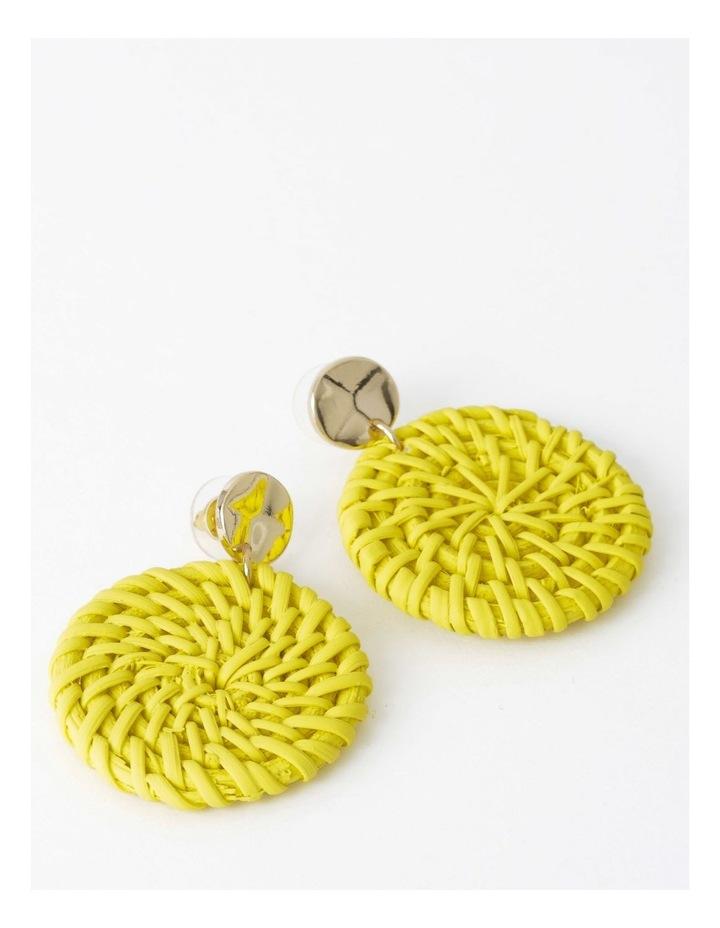 Circle Straw Earring image 1