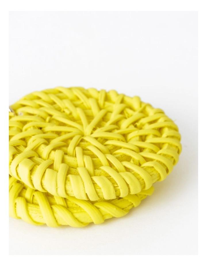 Circle Straw Earring image 2