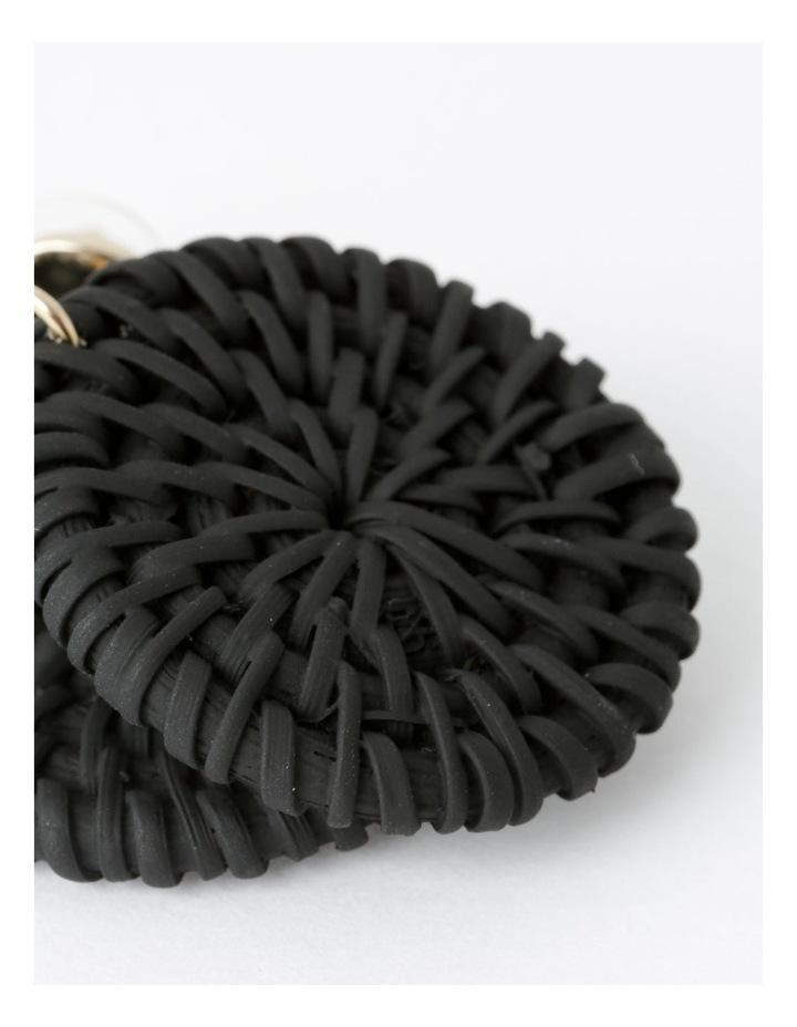 Circle Straw Earring image 3