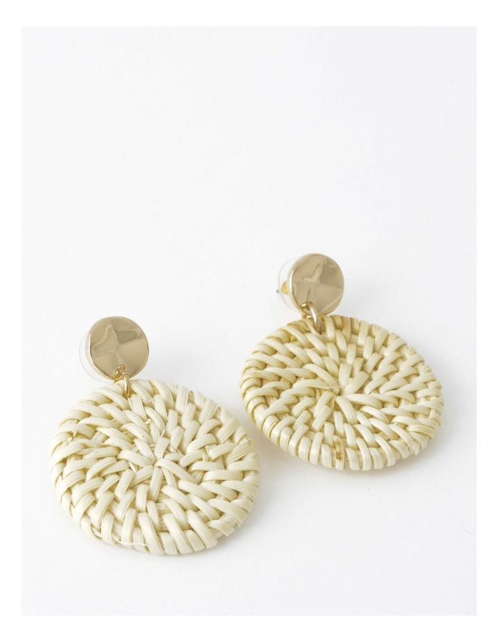 Circle Straw Earring image 1