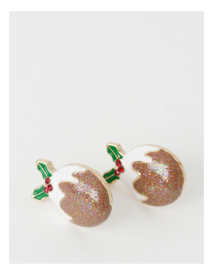 Christmas Pudding Stud Earrings image 1