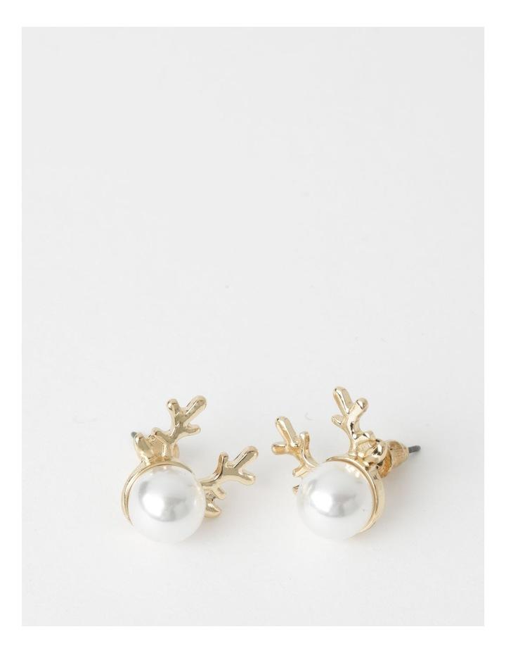 Reindeer Pearl Stud Earrings image 1