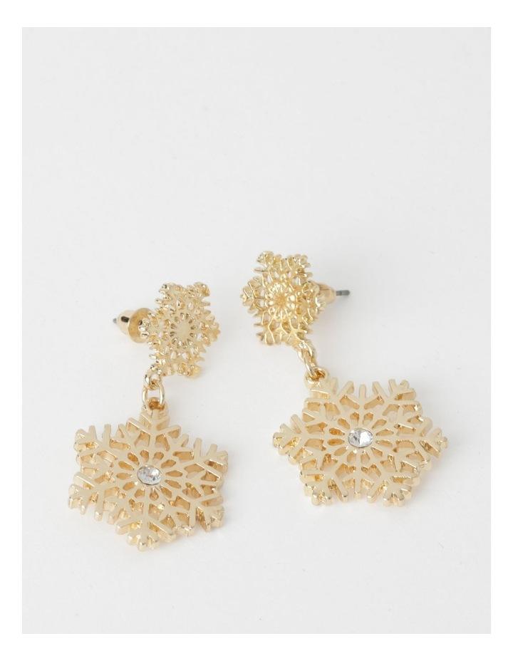 Snowflake Drop Earrings image 1