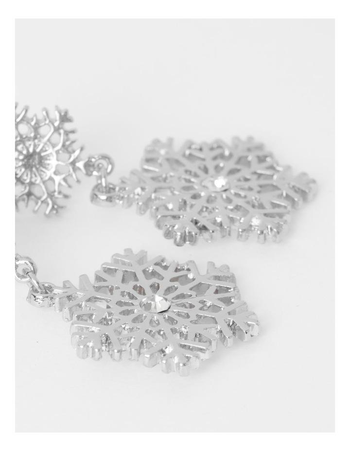 Snowflake Drop Earrings image 3
