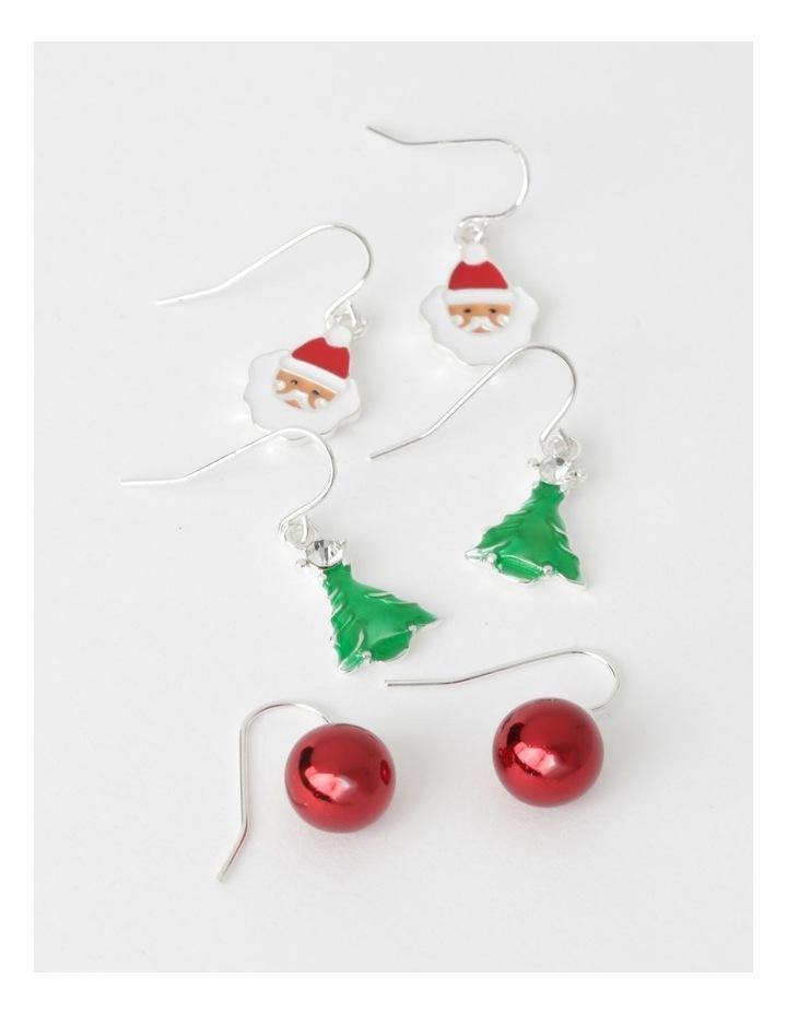 3 Pack Assorted Christmas Drop Earrings image 1