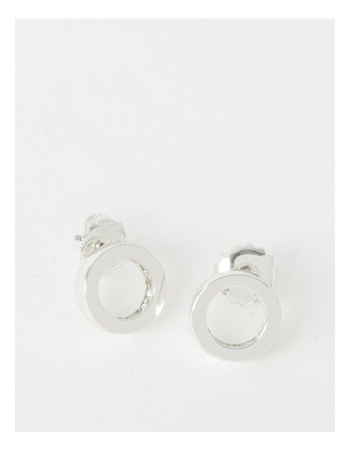 Diamant Circle Stud Earrings image 1