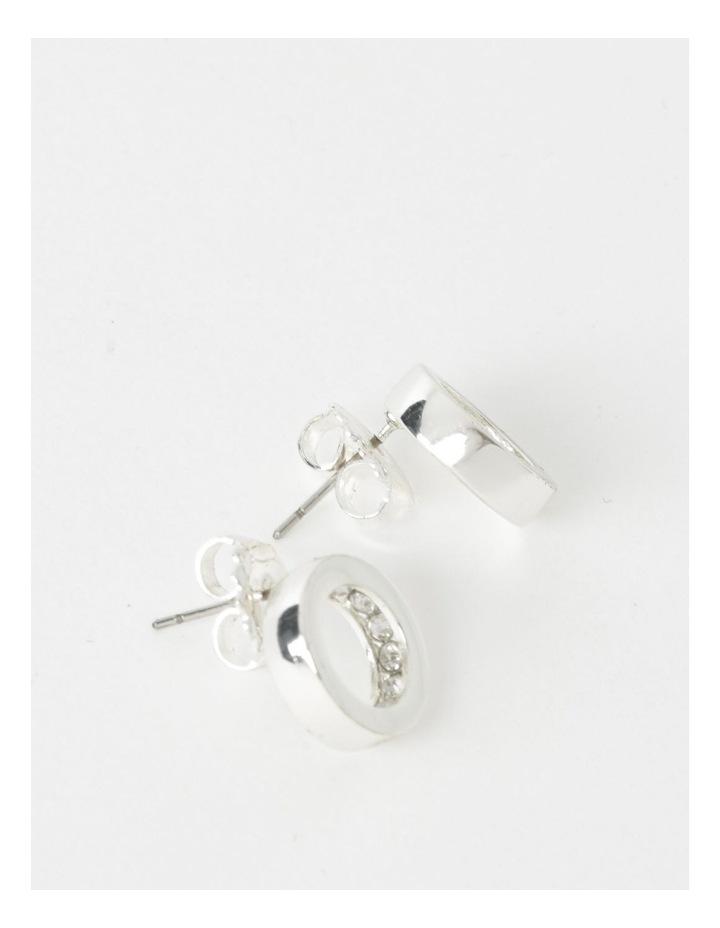Diamant Circle Stud Earrings image 2