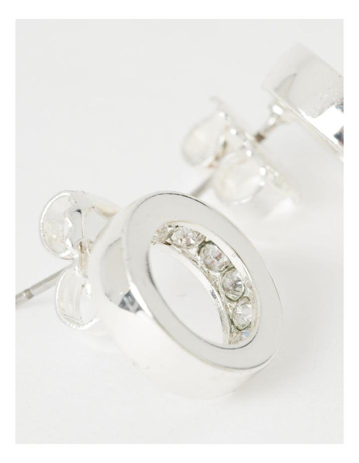Diamant Circle Stud Earrings image 3