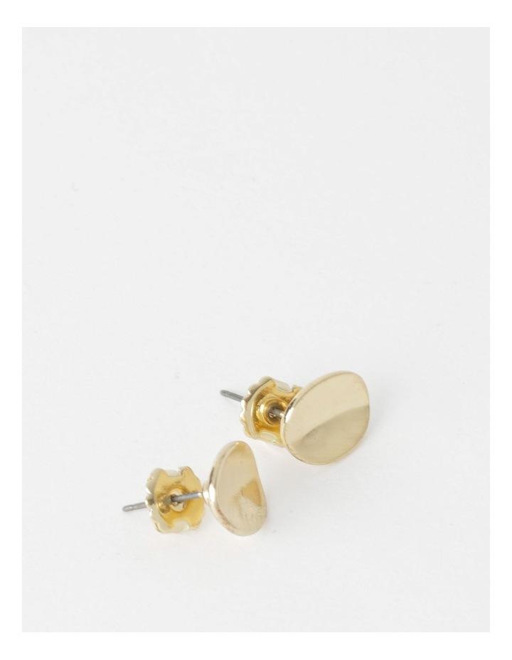 Curved Oval Stud Earrings image 2