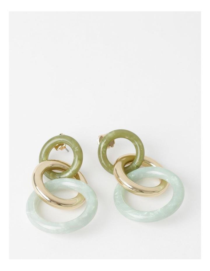 Triple Circle Drop Earrings image 1