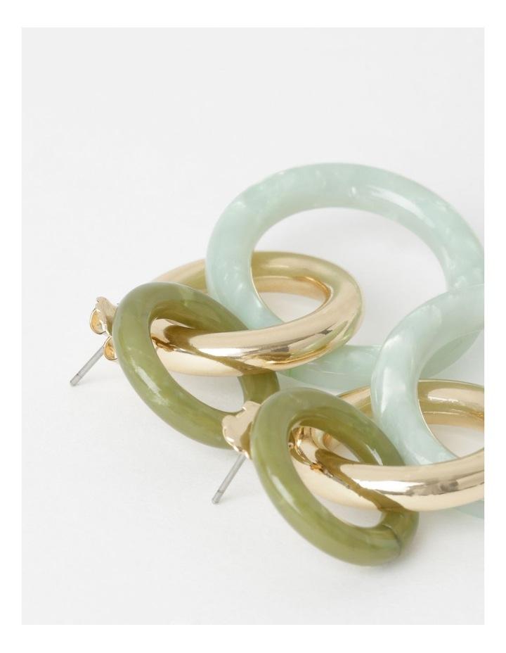 Triple Circle Drop Earrings image 2