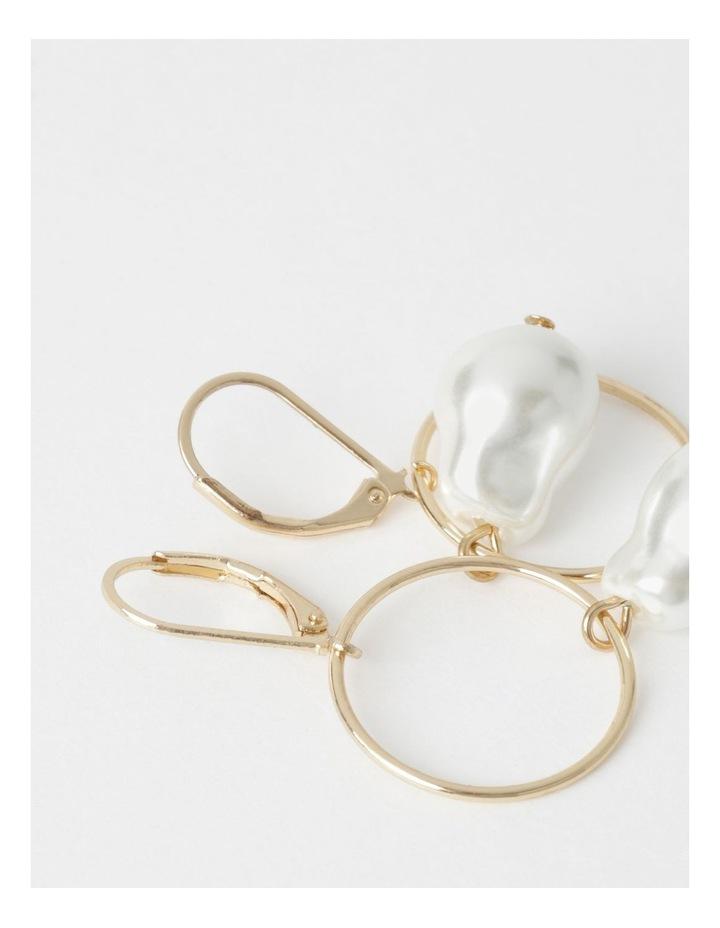 Thin Circle Pearl Drop image 3