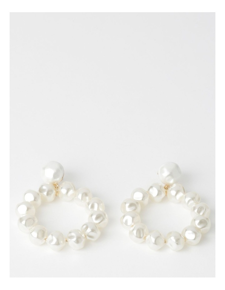 Continuous Pearl Drop Earrings image 1