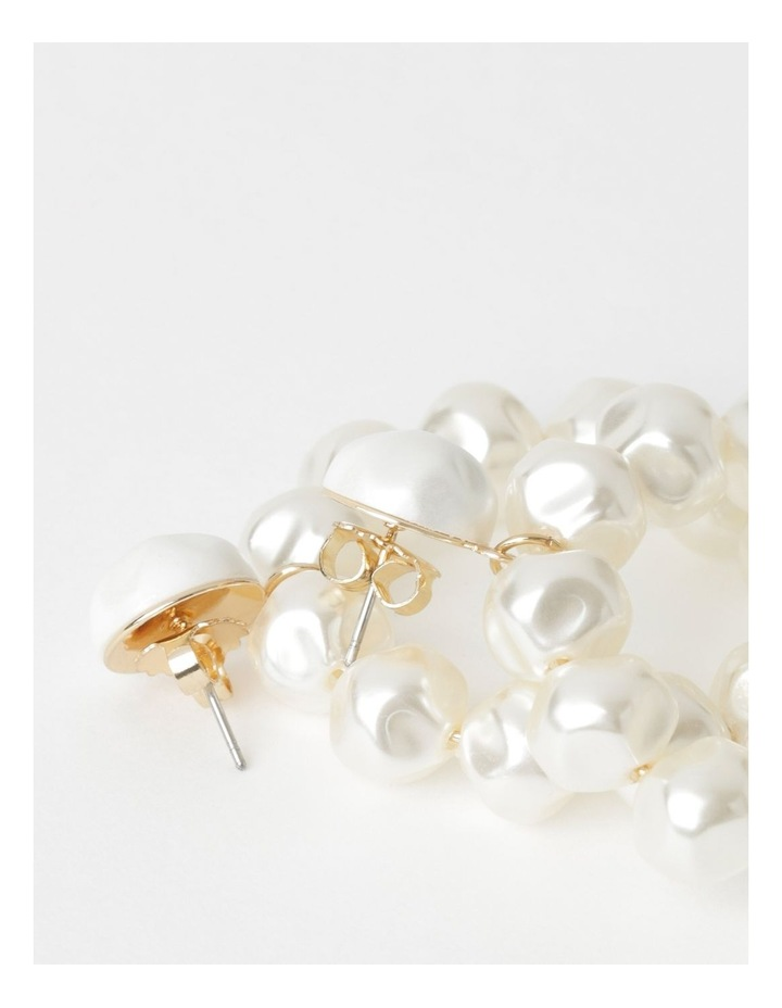 Continuous Pearl Drop Earrings image 2