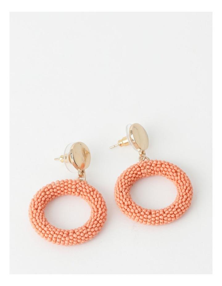 Seed Bead Circle Drop Earring image 1