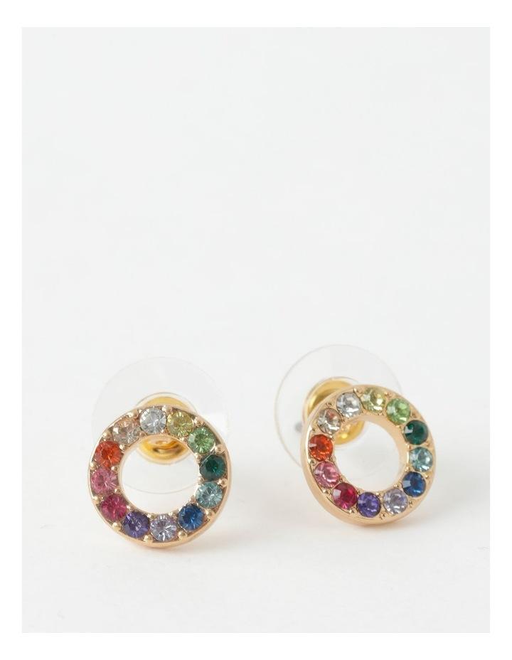 Glam Circle Stud Earring image 1
