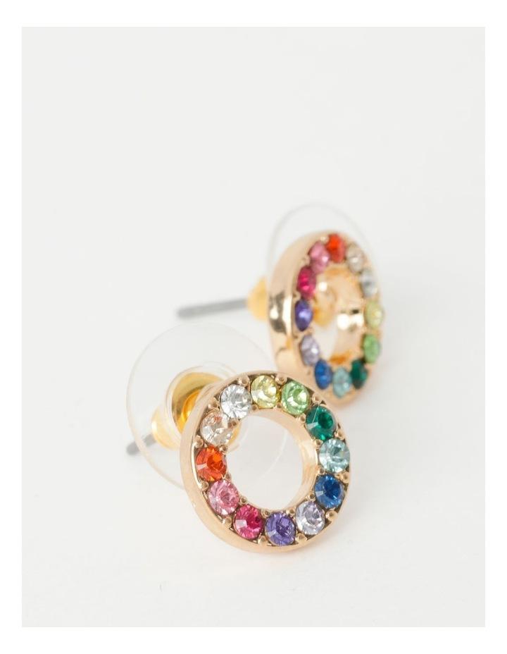 Glam Circle Stud Earring image 2