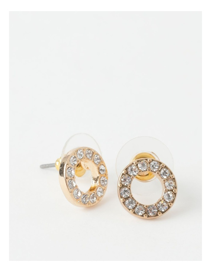 Glam Circle Stud Earring image 1