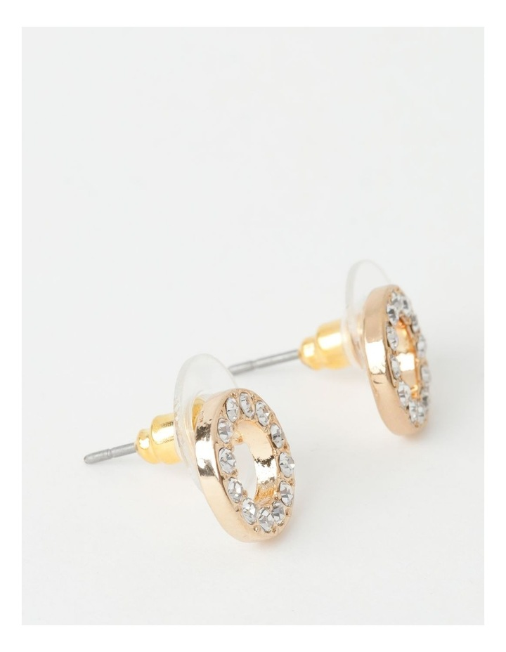 Glam Circle Stud Earring image 2