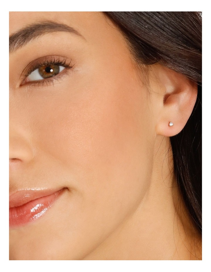 Stone Gold Stud Earrings image 2