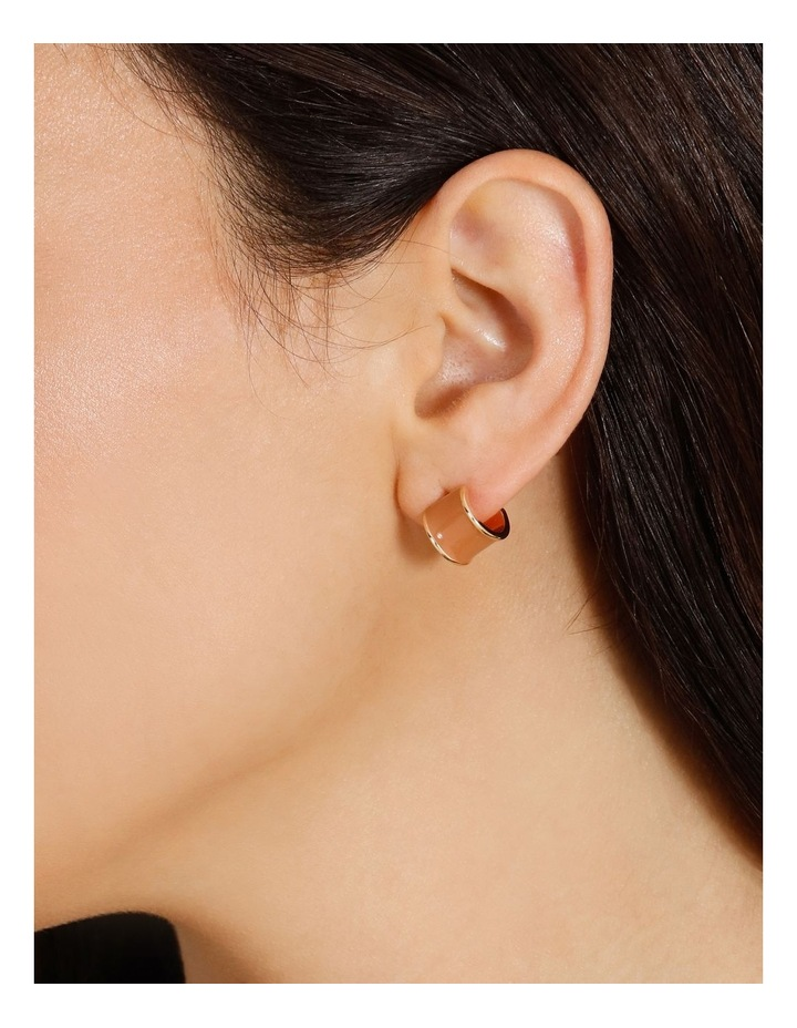 Coloured Camel Huggie Earrings image 4