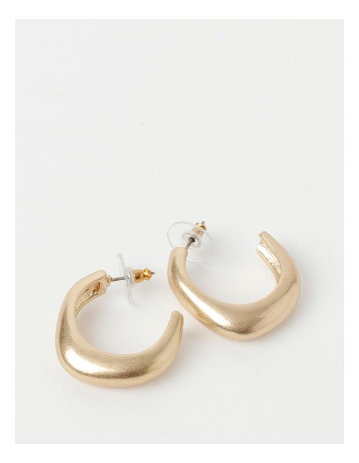 Molten Statement Gold Hoop Earrings image 1
